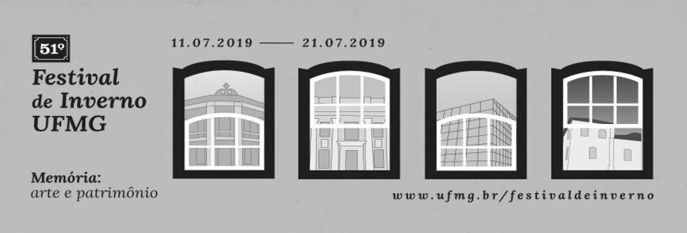 Banner do Festival de Inverno da UFMG, com desenhos de janelas e website ufmg.br/festivaldeinverno/